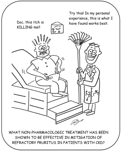 Uremic Pruritus cartoon