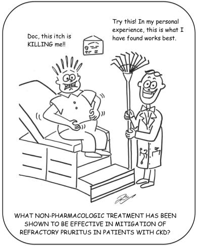 Uremic Pruritus cartoon